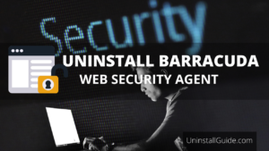 how to uninstall barracuda web security agent