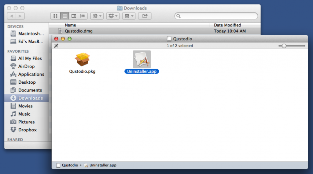 how to uninstall qustodio from mac