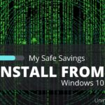 how to uninstall my safe savings from windows 10