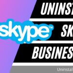 how to uninstall skype for business